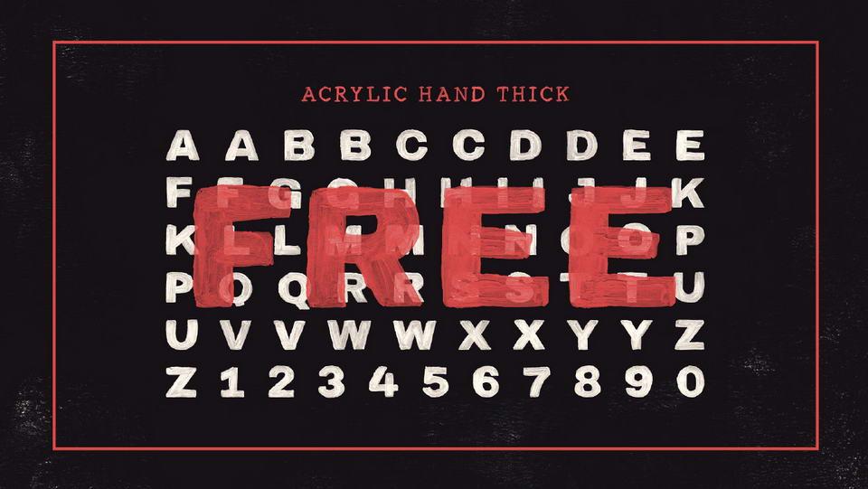 acrylichandfreefont