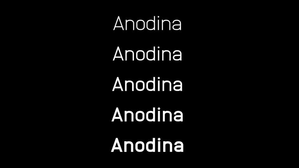 anodinafreefontfamily