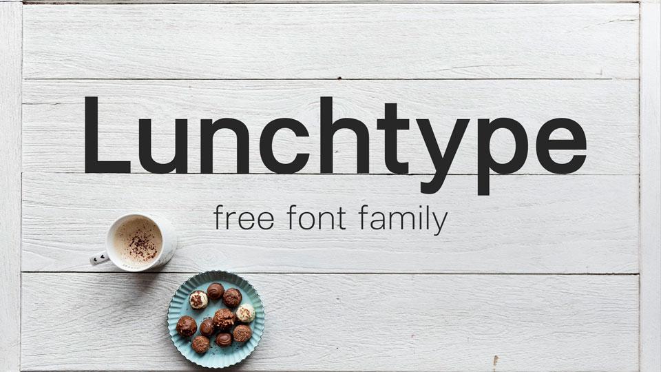 lunchtypefreefontfamily