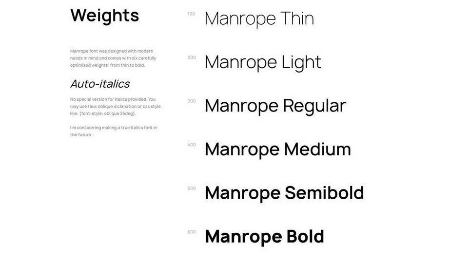manropetypeface