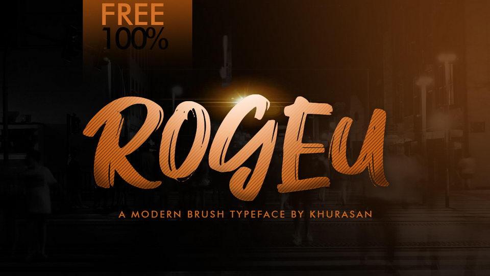 roguebrushfreefont