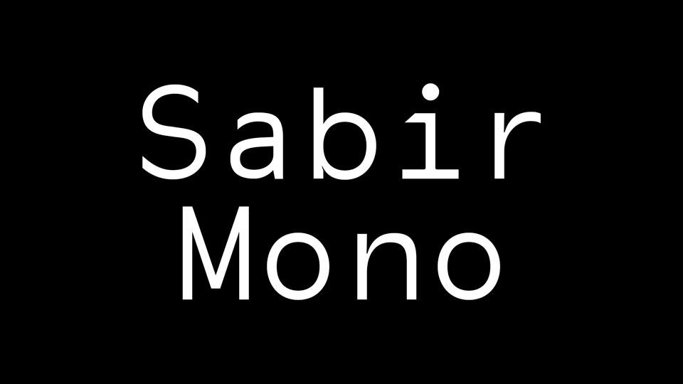 sabirmonofontdownload