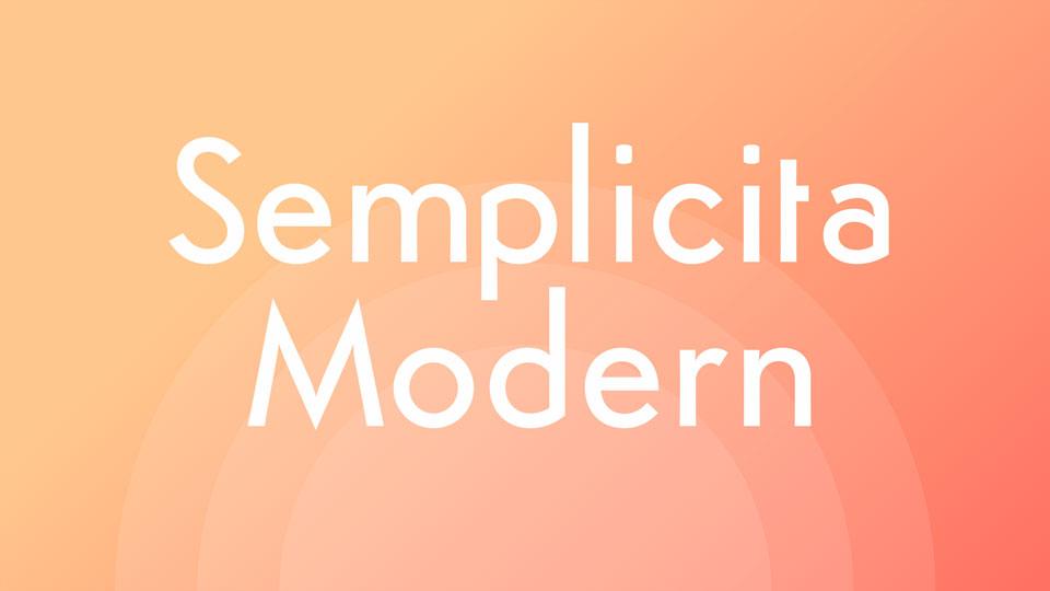 semplicitamodernfreefontfamily