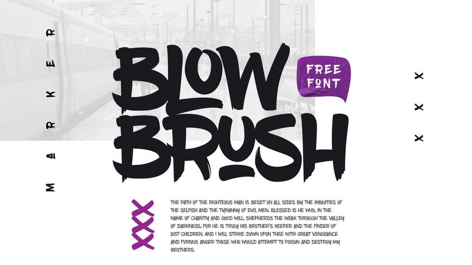 blowbrushfreefont