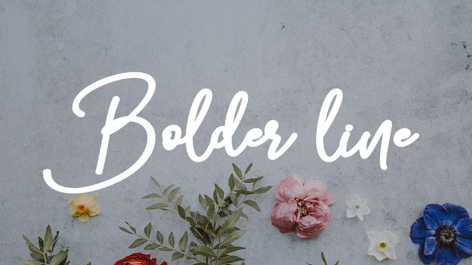 bolderlinefreefont