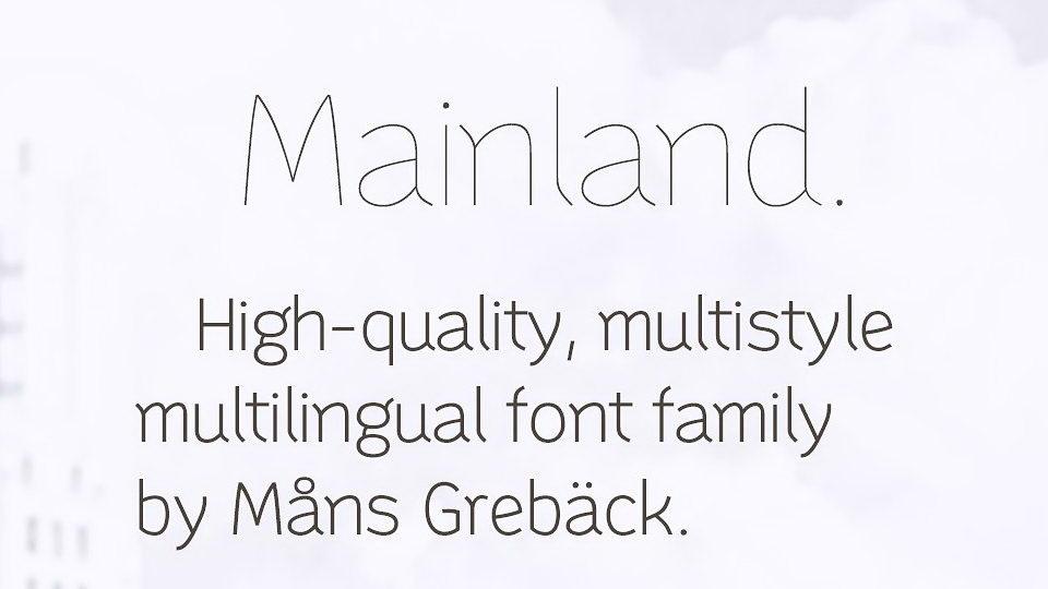 mainlandfont