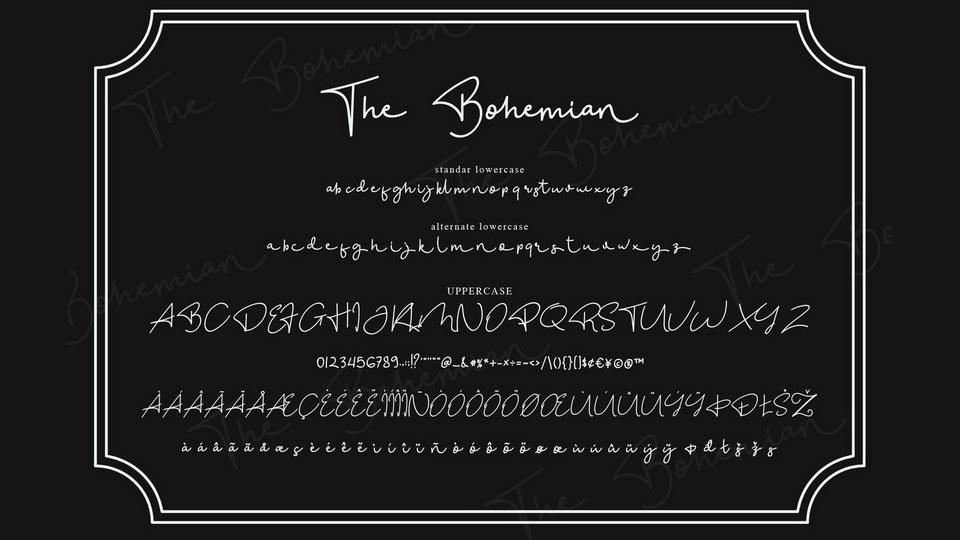 bohemianscriptfont