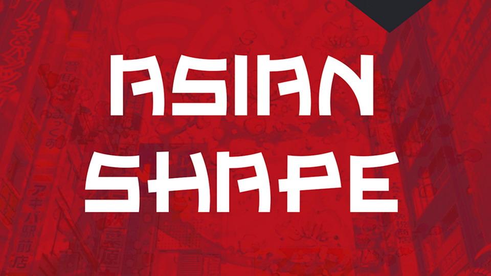 asian shape font