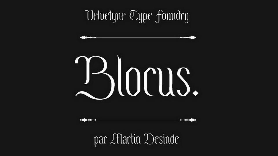 blocus font