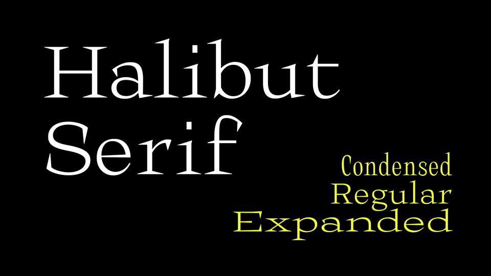 halibut serif font