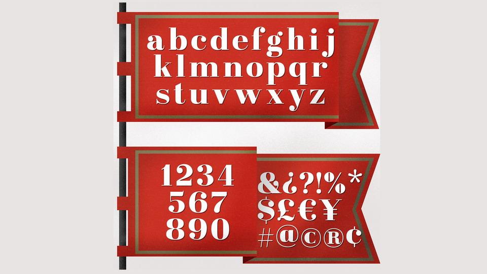 bold serif