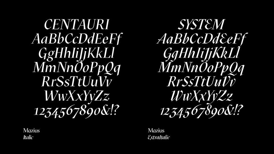mazius free font