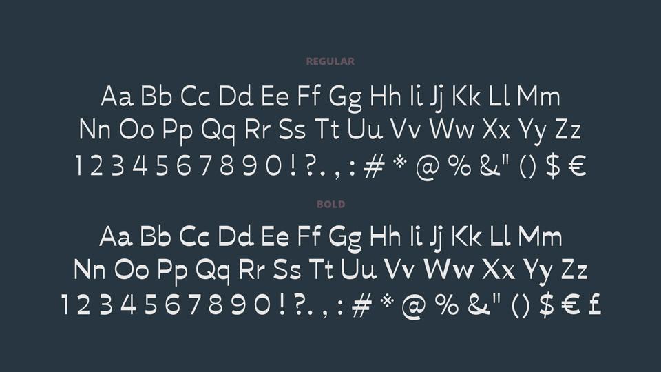 reversed stress font
