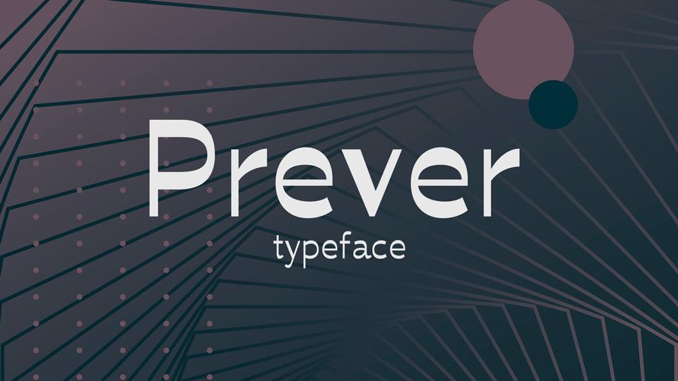 prever font