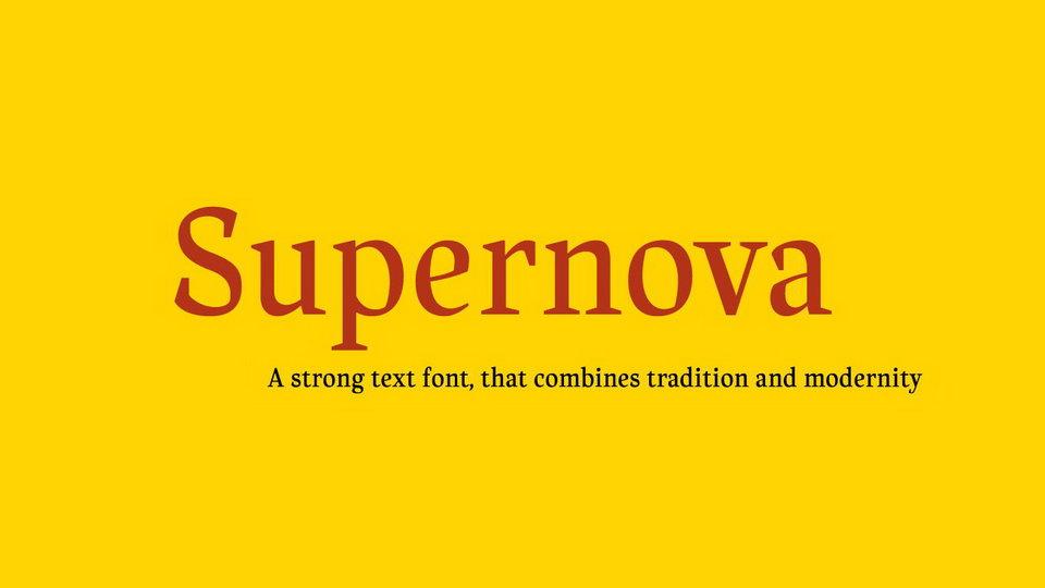 supernovefreefont