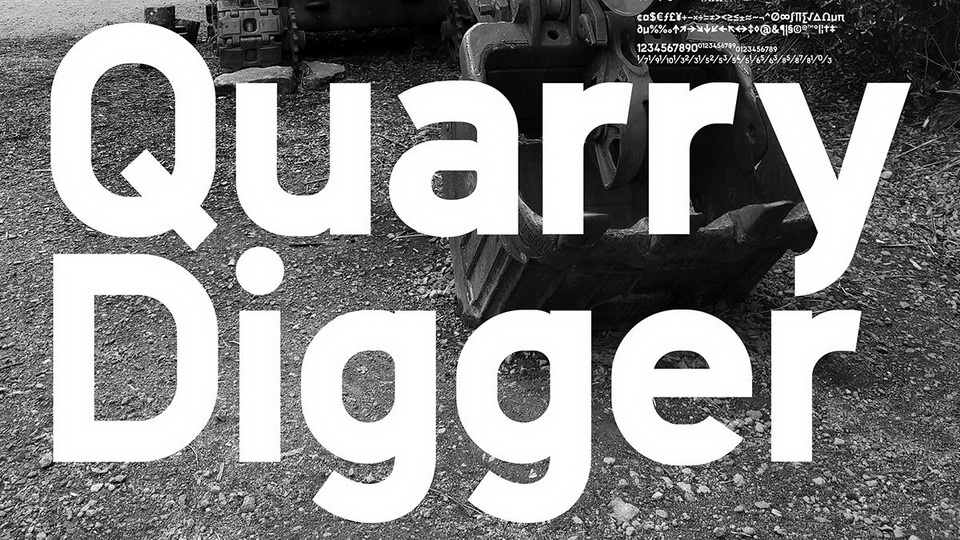 quarry digger typeface