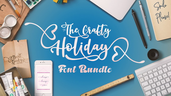The-Crafty-Holiday-Font-Bundle-Preview-1200×800-A (2)