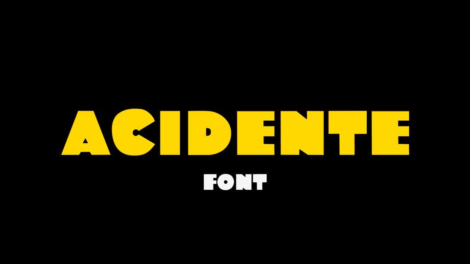 acidente font