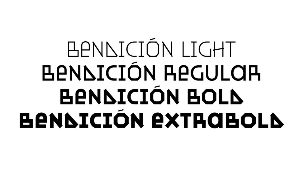 bendicion typeface