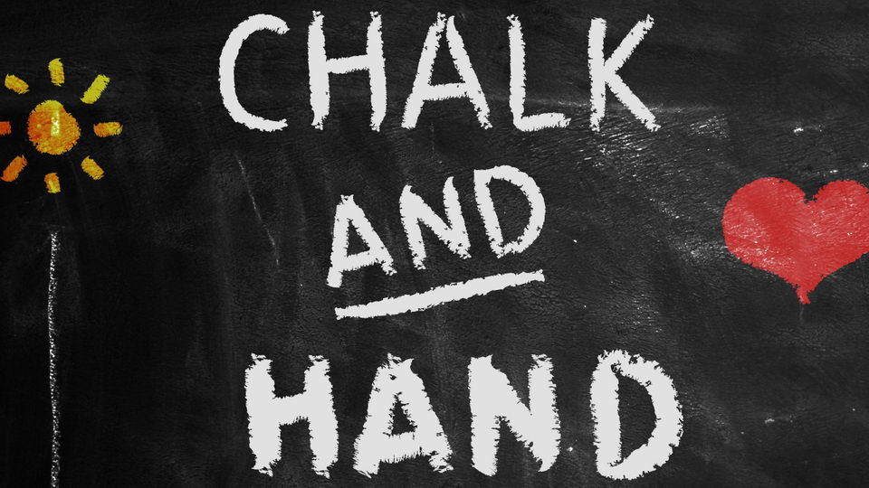 chalk hand marker font
