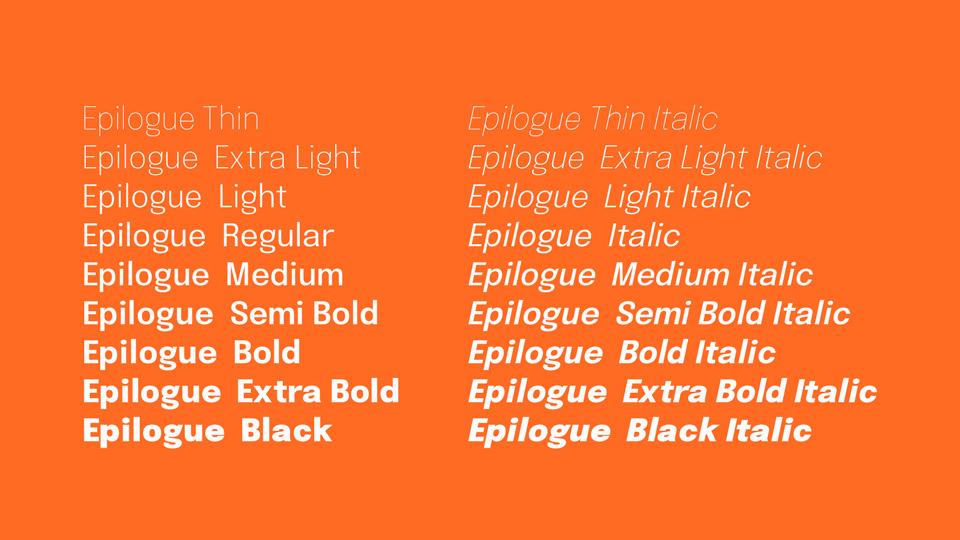 epilogue font