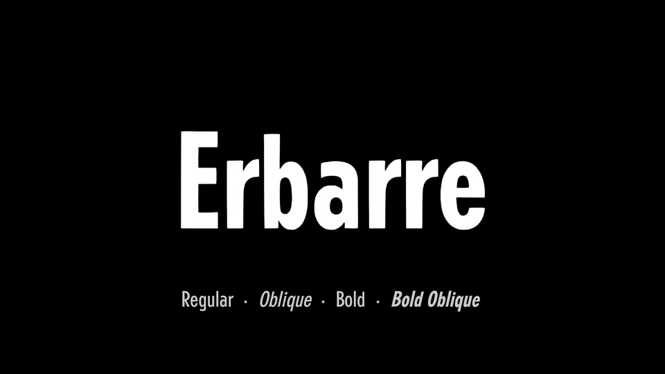 erbarre font family