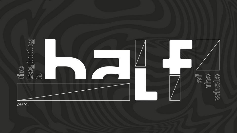 half typeface