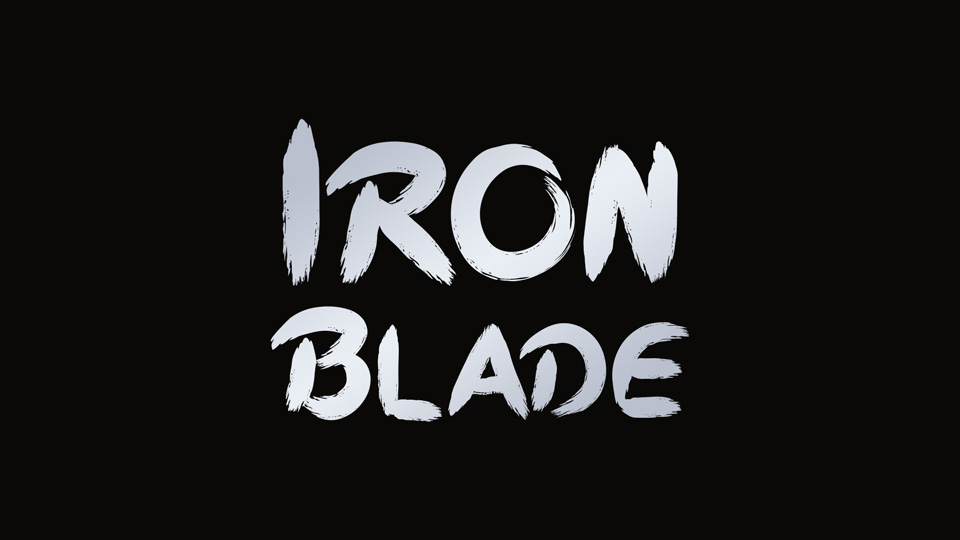 iron blade typeface