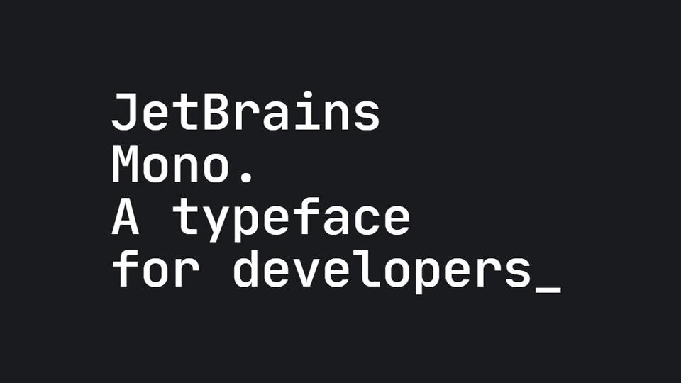 jetbrains mono typeface