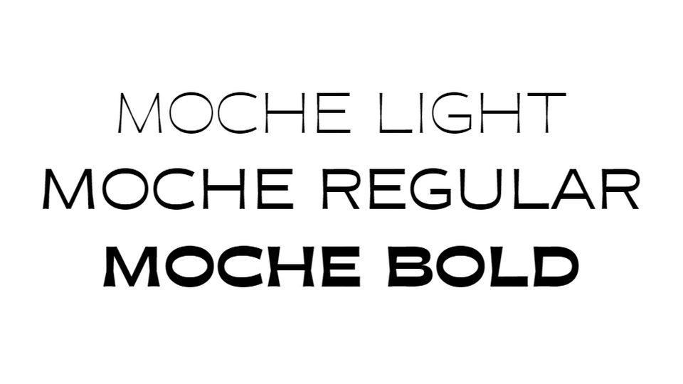 moche typeface