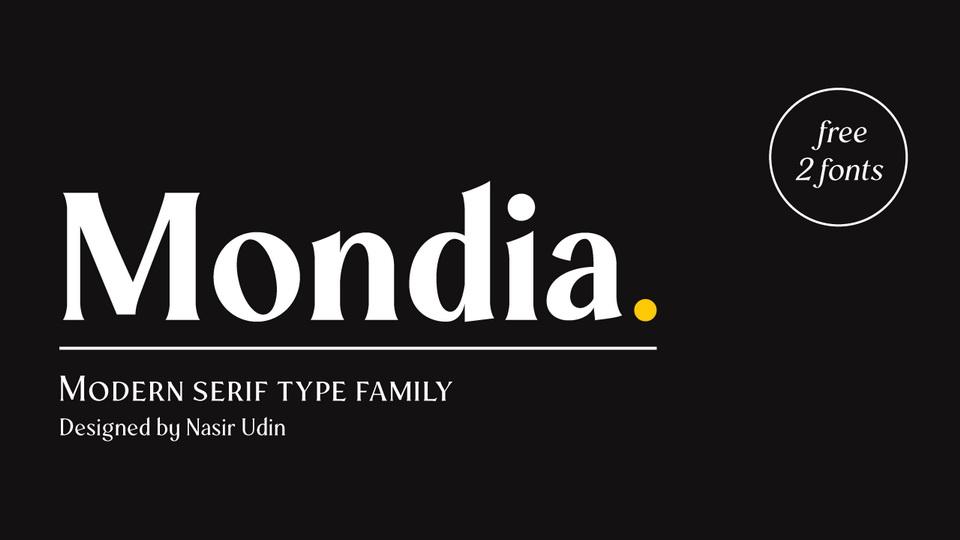 mondia typeface