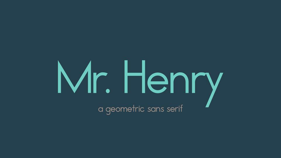 mr henry typeface
