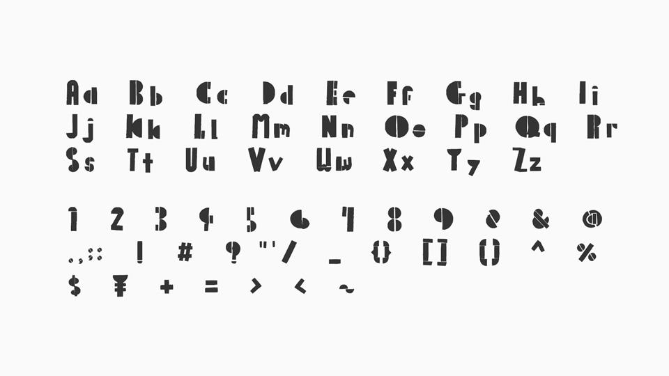 palette mosaic font