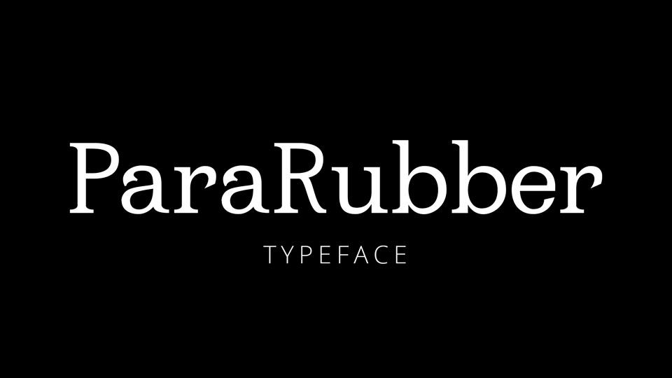 pararubber typeface