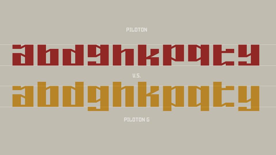 piloton font family