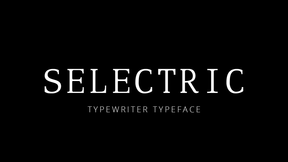 selectric typeface