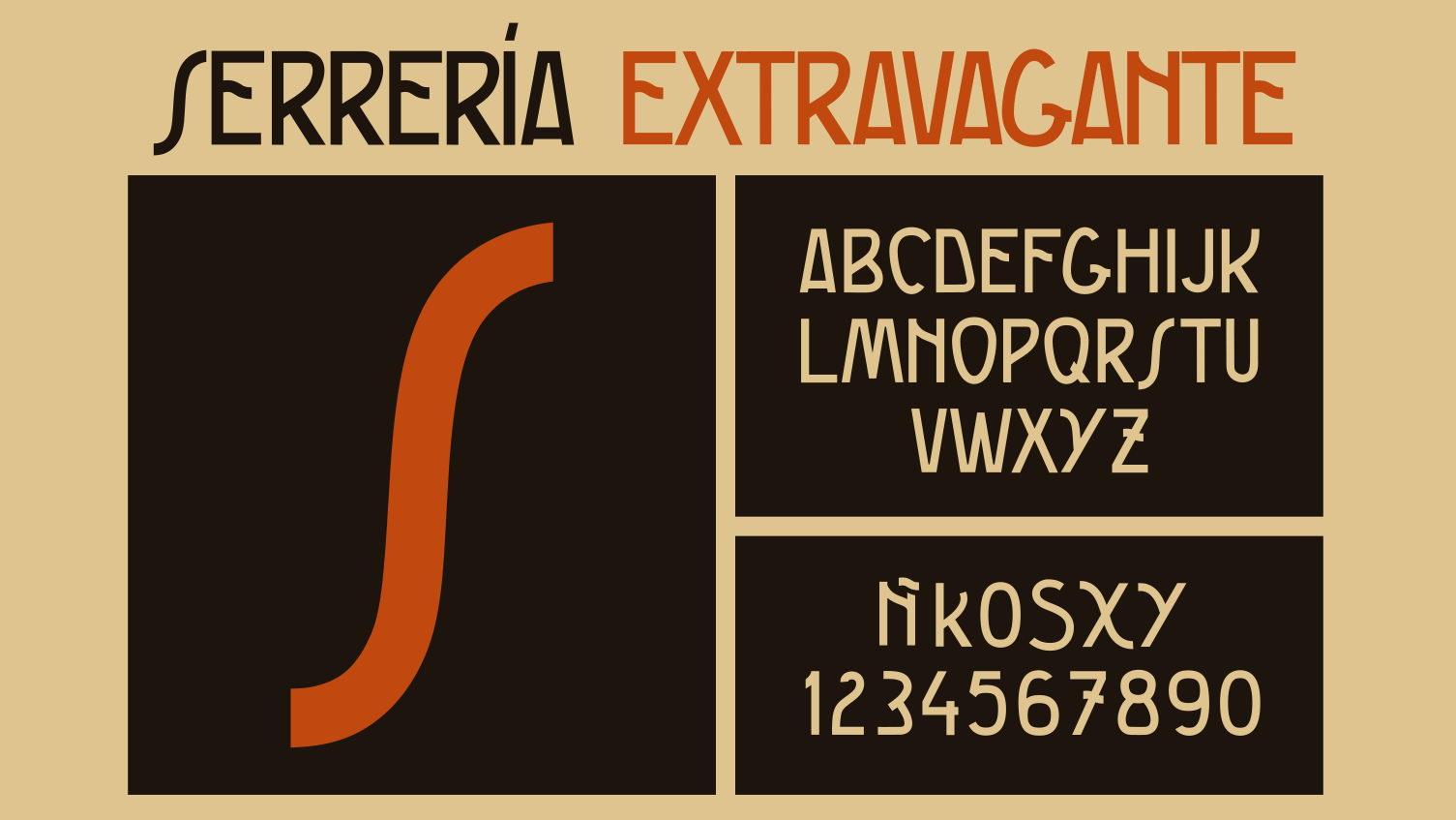 serreria extravagante typeface