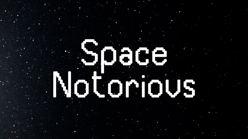 space notorious typeface