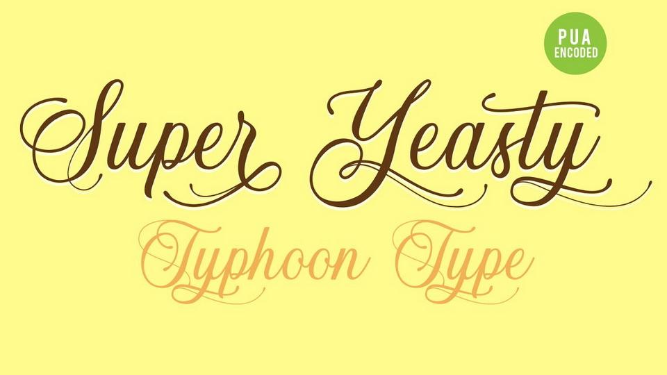 super yeasty font
