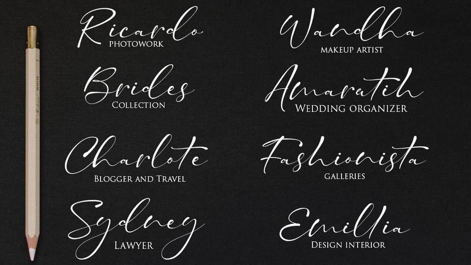 taman signature font