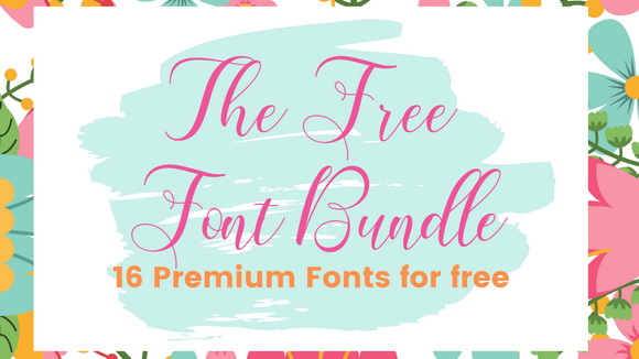 The-Free-Font-Bundle16-Premium-Fonts-for-free