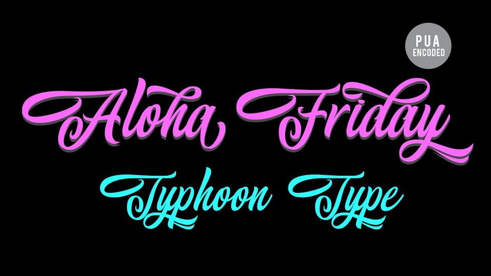aloha friday font