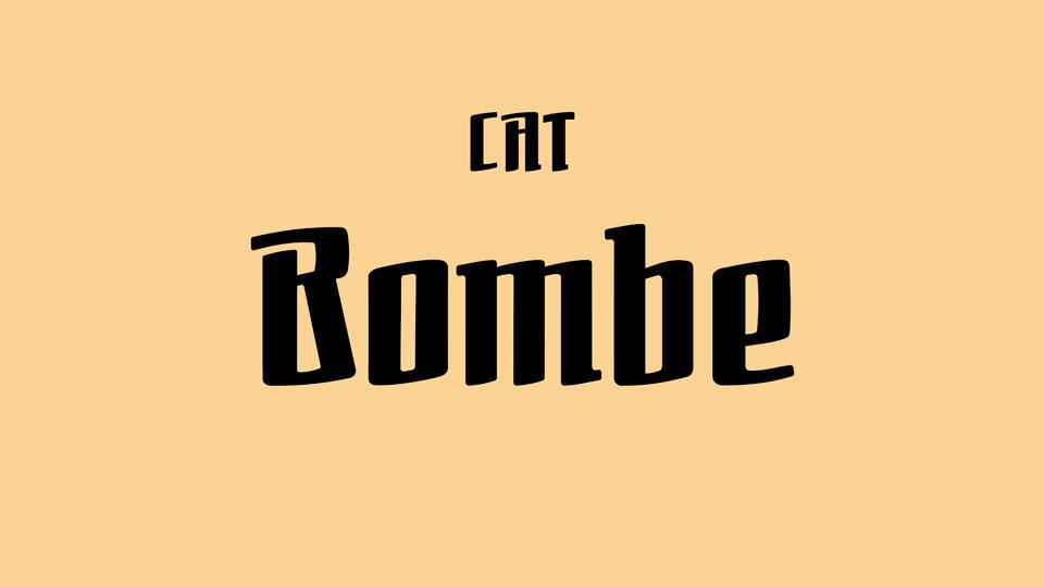 bombe typeface