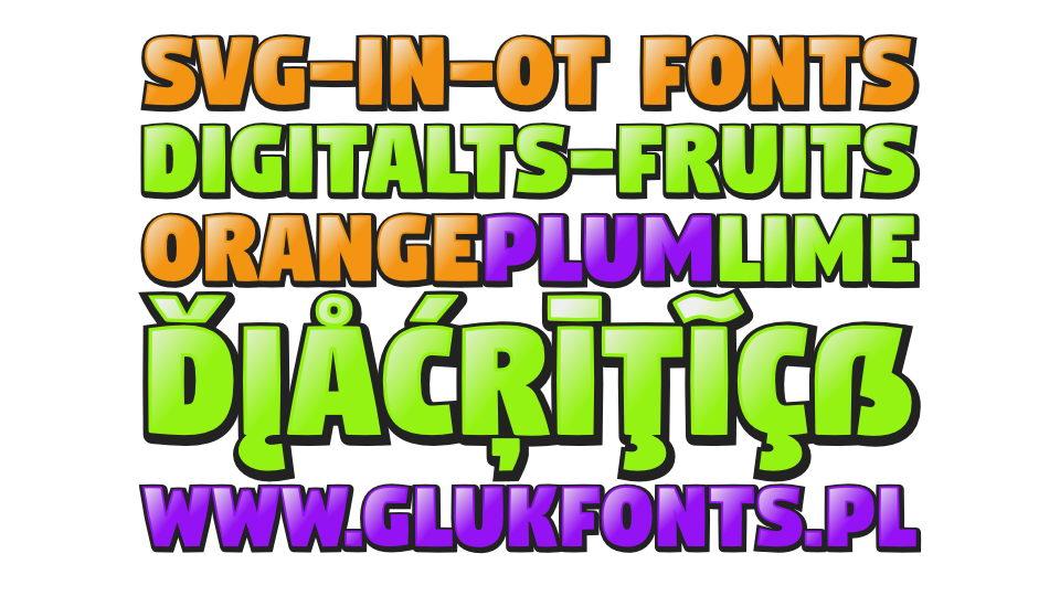 digitalts fruits font