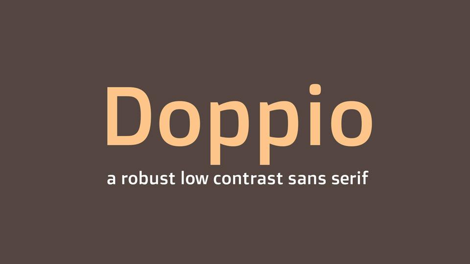 doppio typeface