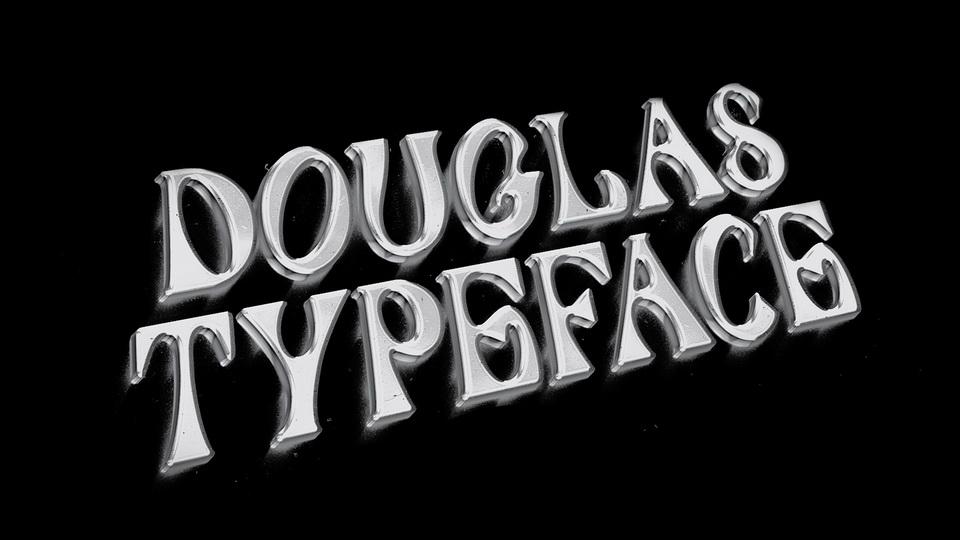 douglas typeface