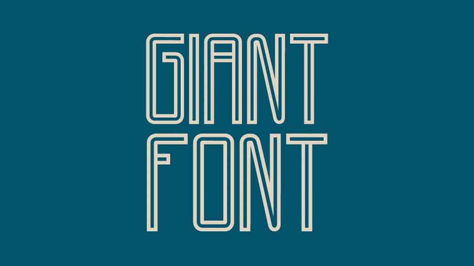 giant font