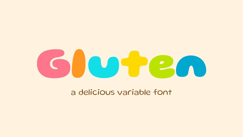 gluten typeface