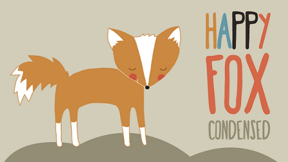 happy fox font