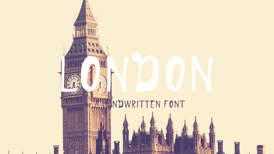 london handwritten font